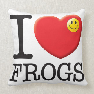Frogs Love Throw Pillow