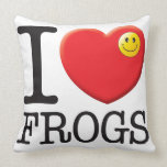 Frogs Love Throw Pillows