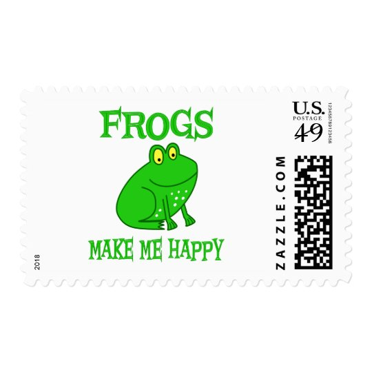 Frogs Make Me Happy Postage
