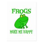 Frogs Make Me Happy Postcard