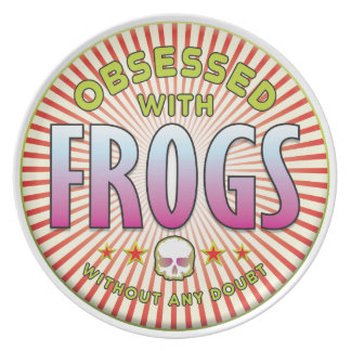 Frogs Obsessed R Plate