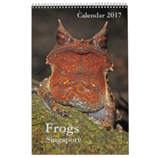 Frogs of Singapore Calendar 2017