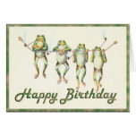 Frogs on a Line Greeting Card