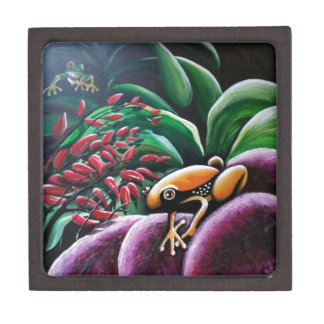 Frogs on Garden Leaves Gift Box