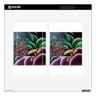 Frogs on Garden Leaves Skins For Kindle Fire