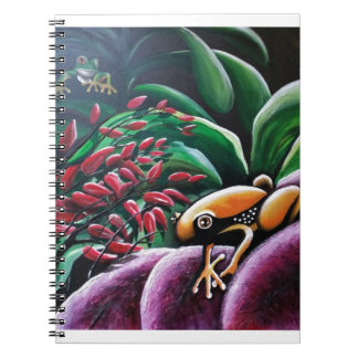 Frogs on Garden Leaves Spiral Notebook