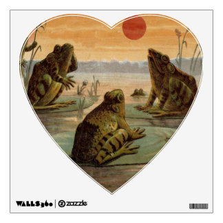 Frogs on Lily pads Vintage Wall Sticker