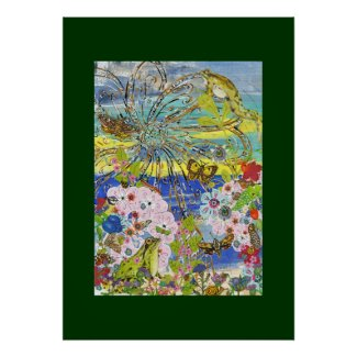 Frogs Paradise Poster print