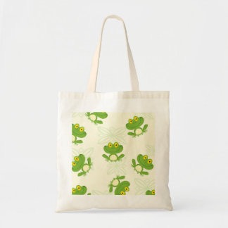 Frogs Pattern Budget Tote Bag