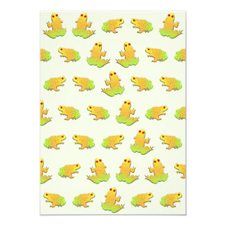 Frogs pattern card