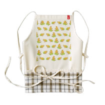 Frogs pattern zazzle HEART apron