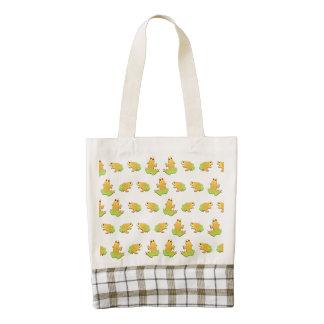 Frogs pattern zazzle HEART tote bag