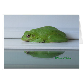 Frog's Reflection Greeting Card