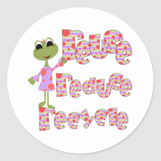 Frogs Reuse Reduce Recycle Classic Round Sticker