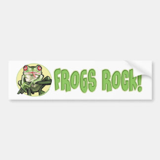 Frogs Rock! Bumpersticker Bumper Sticker