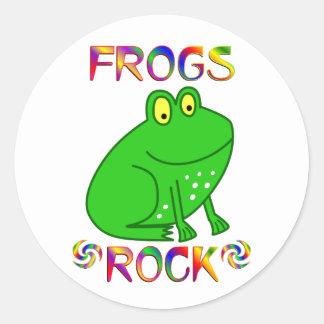 FROGS ROCK CLASSIC ROUND STICKER