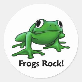 Frogs Rock! Classic Round Sticker