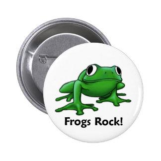 Frogs Rock! Pinback Button
