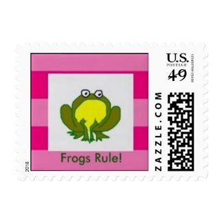 Frogs Rock! Postage
