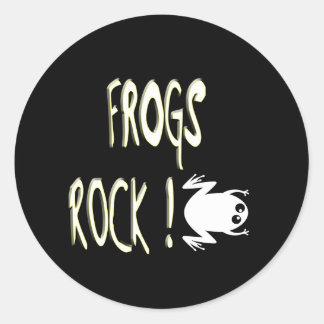 Frogs Rock! Sticker