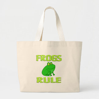 FROGS RULE CANVAS BAG