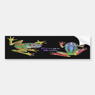 Frogs Rule Bumper Sticker