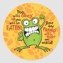 Frogs Rule Classic Round Sticker