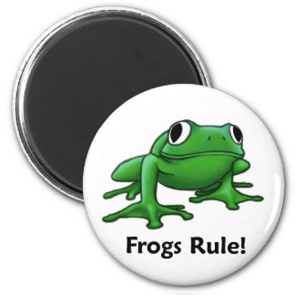 Frogs Rule Refrigerator Magnet