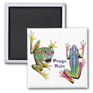 Frogs Rule Magnets