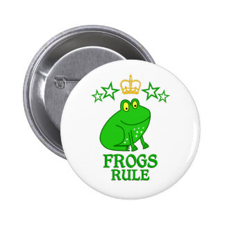 Frogs Rule Pinback Button