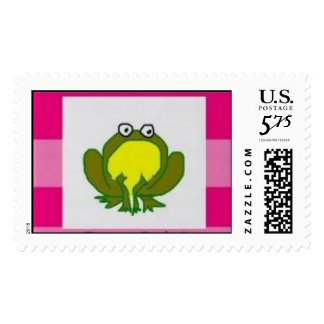 Frogs Rule! (pink) Postage Stamp