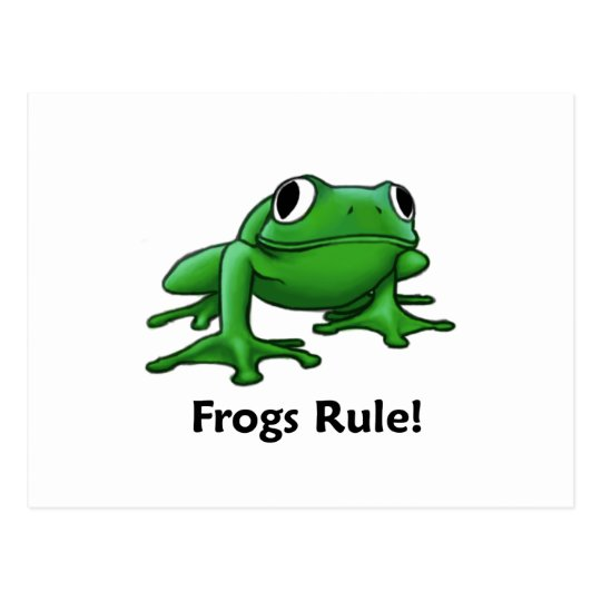 Frogs Rule! Postcard