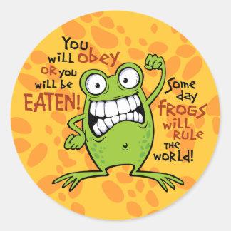 Frogs Rule Stickers