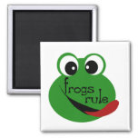 Frogs Rule T-shirts and Gifts Magnets
