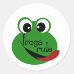 Frogs Rule T-shirts and Gifts Round Sticker