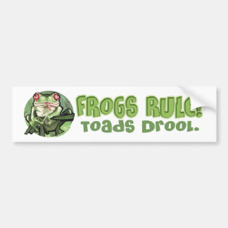 Frogs Rule, Toads Drool Bumpersticker Bumper Sticker