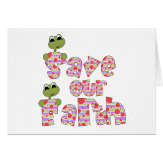 Frogs Save Our Earth Greeting Card