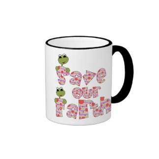 Frogs Save Our Earth Coffee Mug
