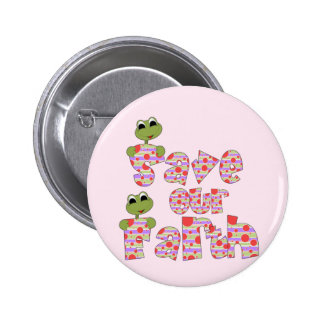 Frogs Save Our Earth T-shirts and Gifts Buttons