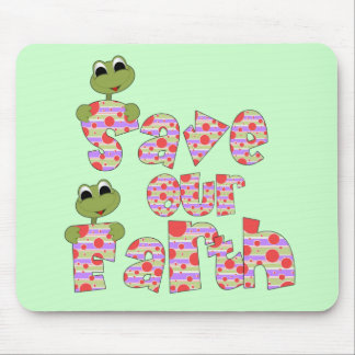 Frogs Save Our Earth T-shirts and Gifts Mouse Pad