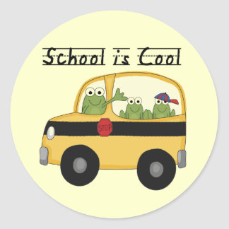 Frogs School is Cool T-shirts and Gifts Round Sticker