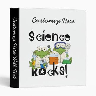 Frogs Science Rocks 3 Ring Binder
