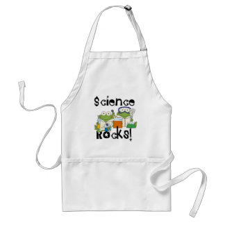 Frogs Science Rocks Adult Apron