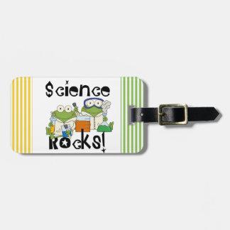 Frogs Science Rocks Bag Tag