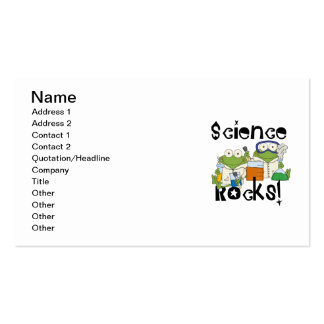 Frogs Science Rocks Double-Sided Standard Business Cards (Pack Of 100)