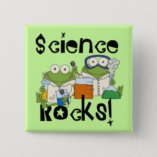 Frogs Science Rocks Button