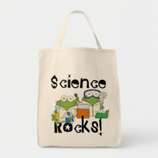 Frogs Science Rocks Canvas Bag