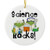 Frogs Science Rocks Ceramic Ornament