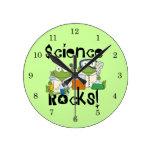 Frogs Science Rocks Clock