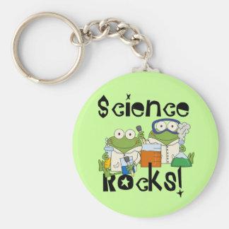 Frogs Science Rocks Keychain